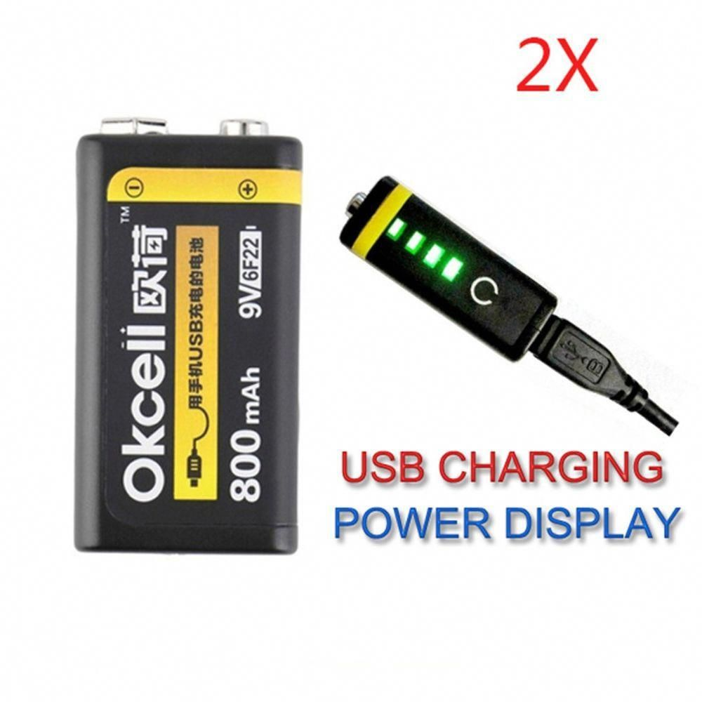 Rechargeable Lipo Battery 9V 800mAh USB For RC Helicopter