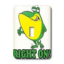 Dooni Designs Random Toons - Right on Thumbs up Froggy - Light Switch Covers - single toggle switch by 3dRose, http://www.amazon.com/dp/B00BMC7TBI/ref=cm_sw_r_pi_dp_IcHprb0P665M6