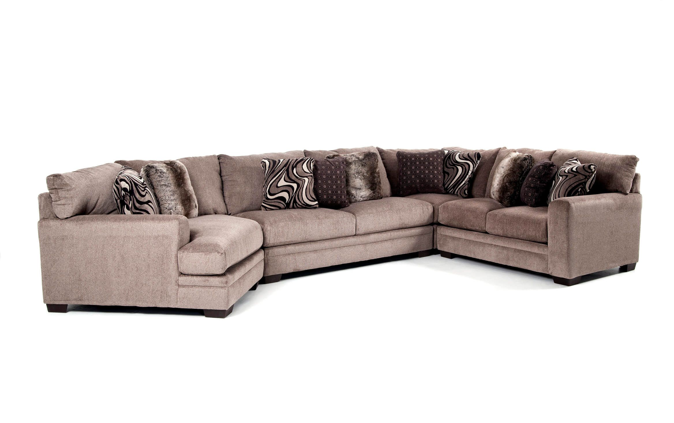 Luxe 4 Piece Sectional with Cuddler Chaise | Cuddler ...