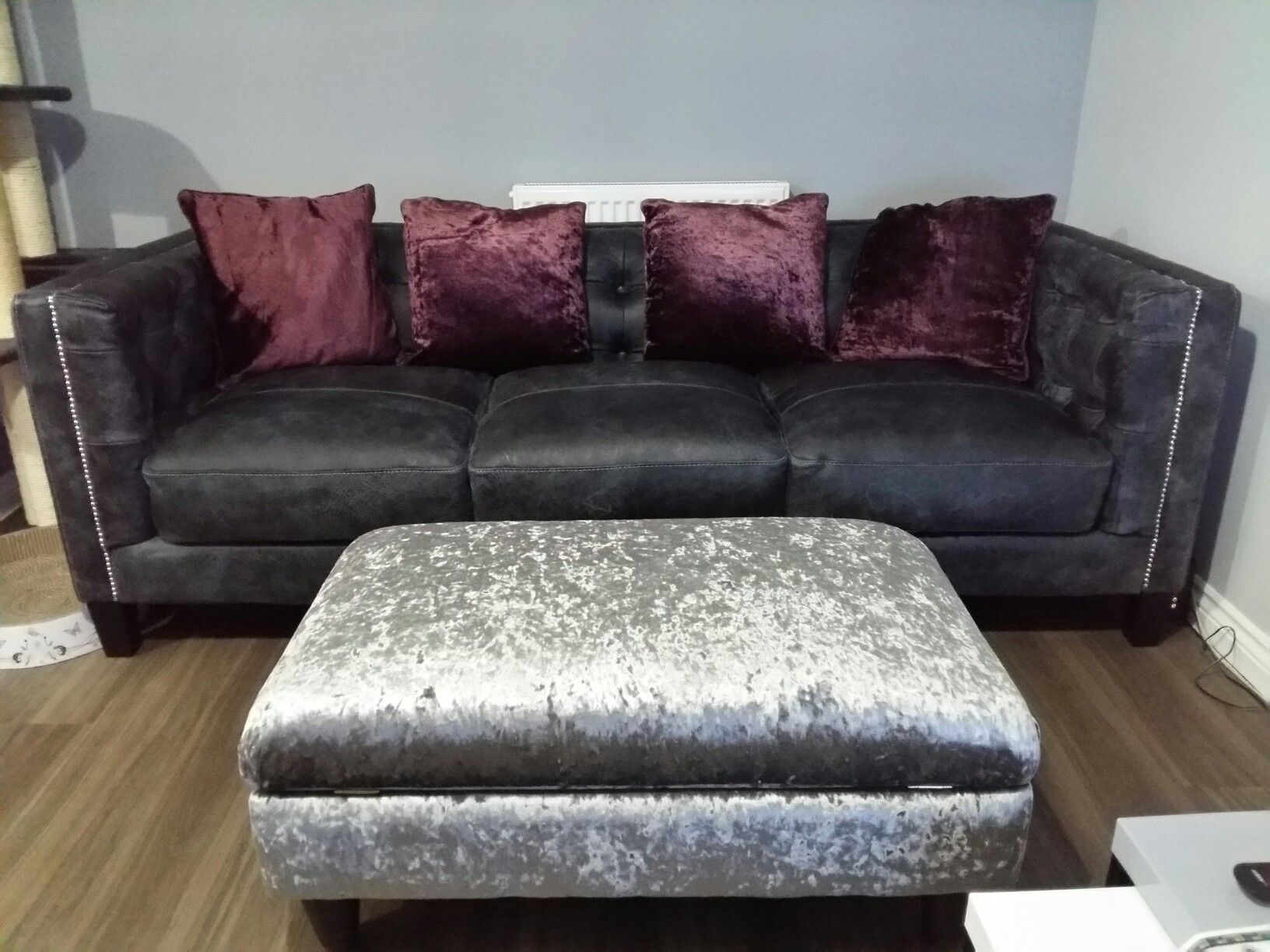 Dfs Duke leather sofa mydfs Etoile footstool House