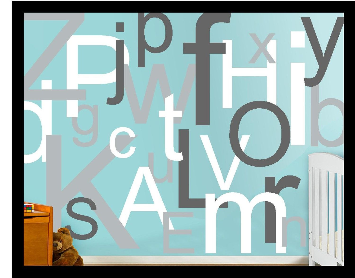 Larger Size Alphabet Letters Vinyl Decal Wall letter