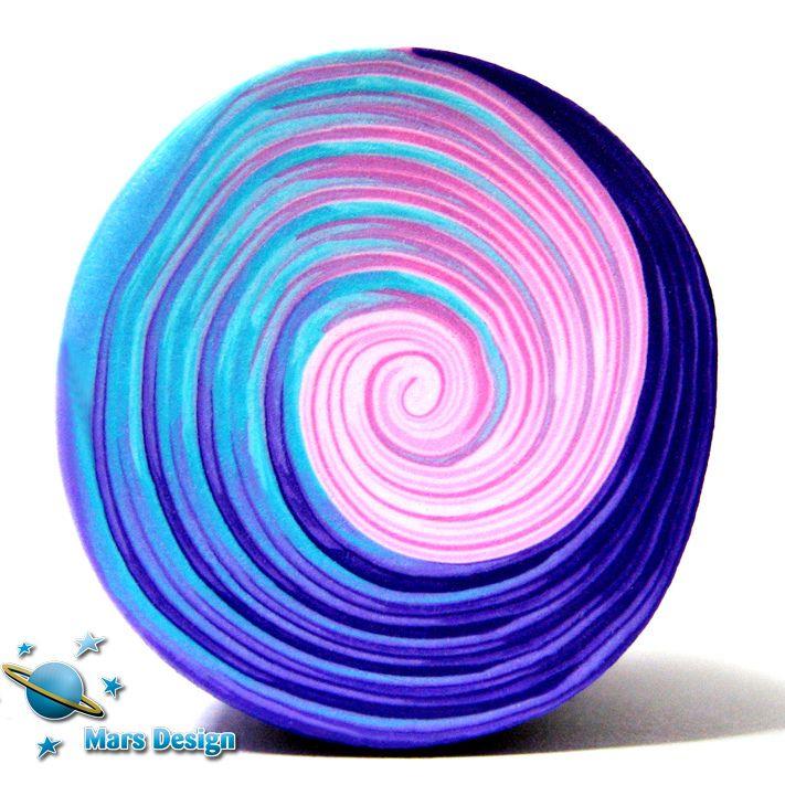 Swirl polymer clay cane