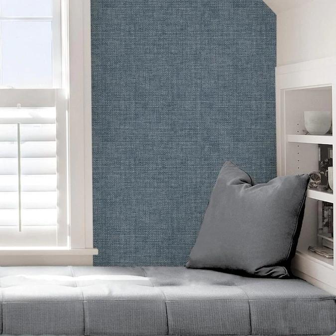 Scott Living 30 75 Sq Ft Cobalt Vinyl Textured Abstract 3d Self Adhesive Peel And Stick Wallpaper Lowes Com In 2020 Textured Walls Self Adhesive Wallpaper Peel And Stick Wallpaper
