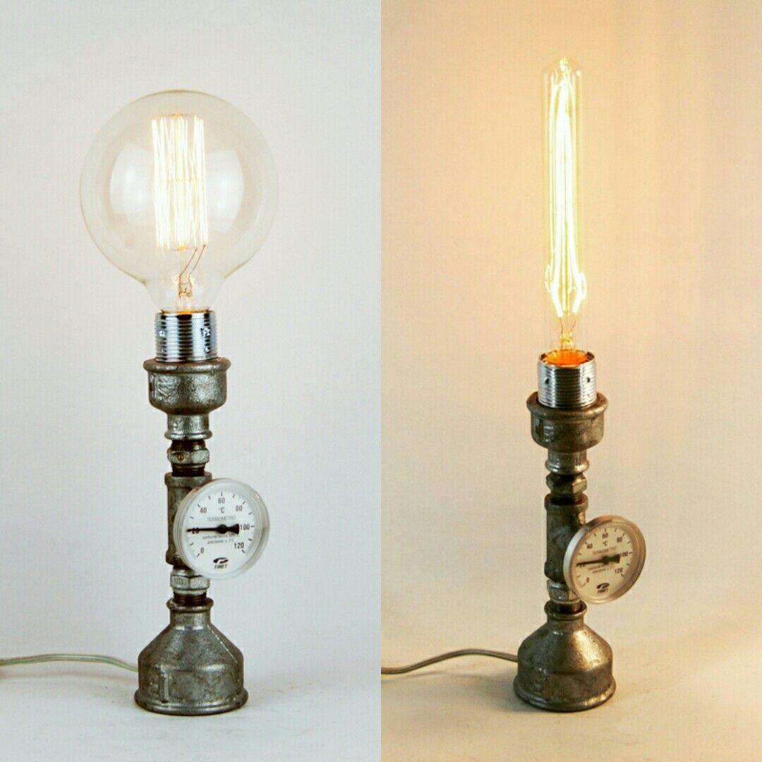 Diy Pipe, Pipe Lamp, Desk, Lamps, Writing Table, Lightbulbs, Writing Desk,  Table Desk, Light Fixtures