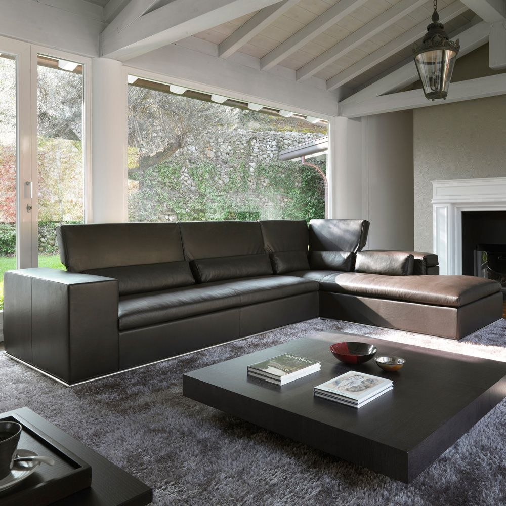 Atlanta Leather Sectional Made In Italy Choose From Sofas To