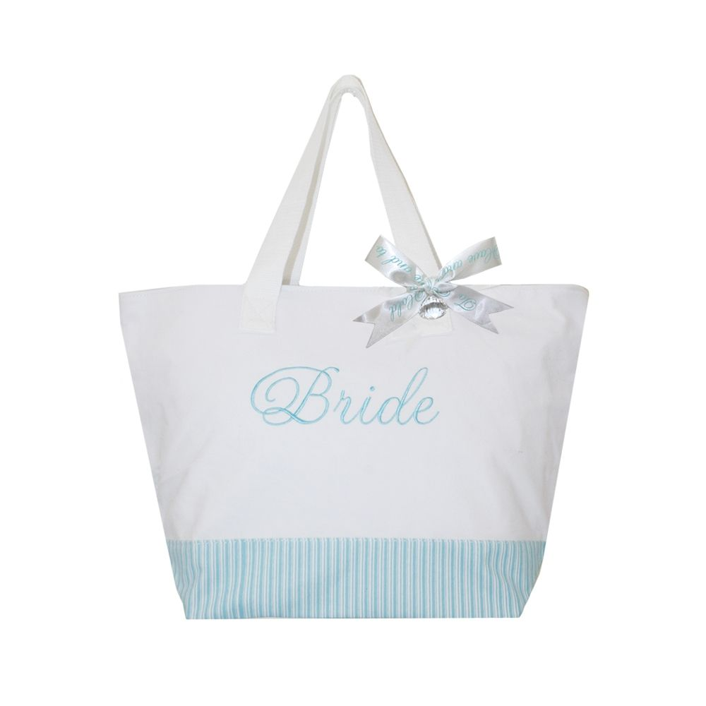 Bride Glitter Tote Bag Tiffany Blue Bridal Sequin Something