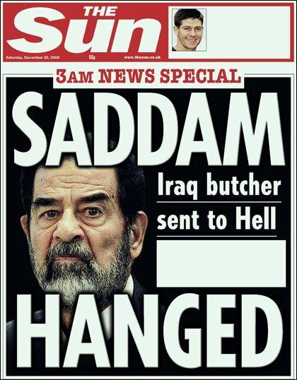 Newspaper headline saddam hussein hanged - Google Search