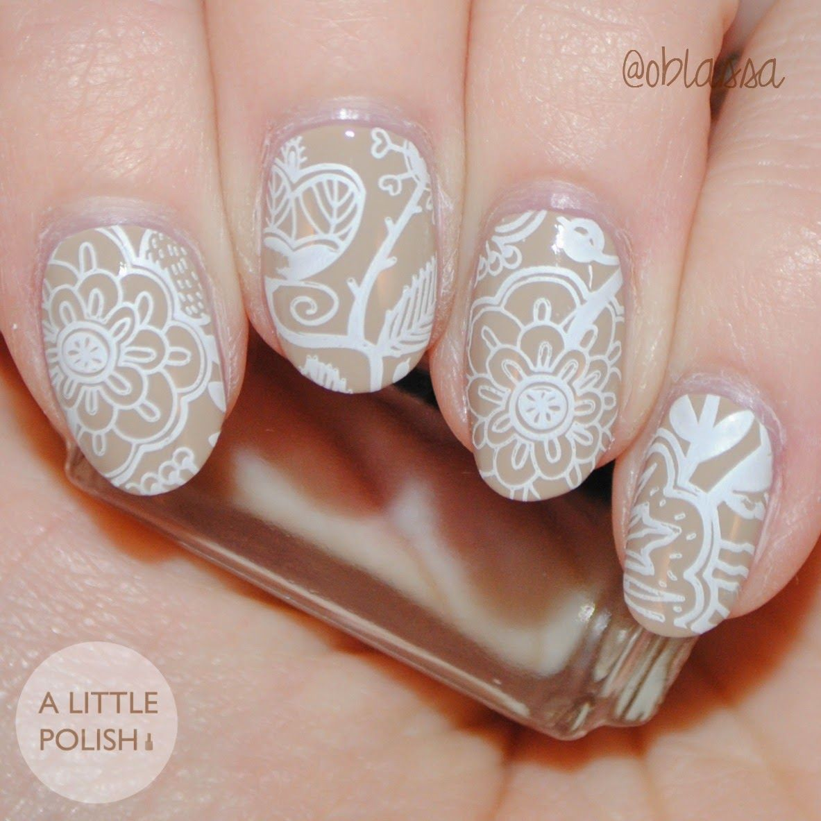 Born Pretty Store - Stamping Plate Review   Floral Stamping Nail Art ...