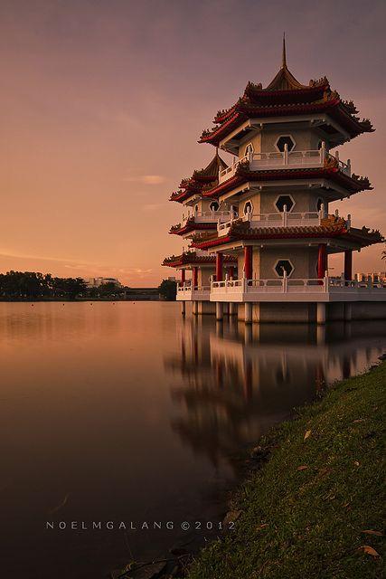 Singapore Chinese Garden Sunset