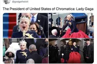 Lady Gaga At The Inauguration Memes In 2021 Lady Gaga Lady Gaga Concert Inauguration