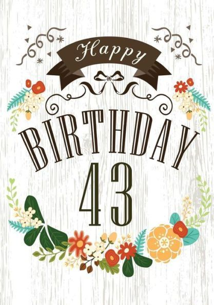 Happy Birthday 43 Books For Women Journal Notebook Year Old Journalin