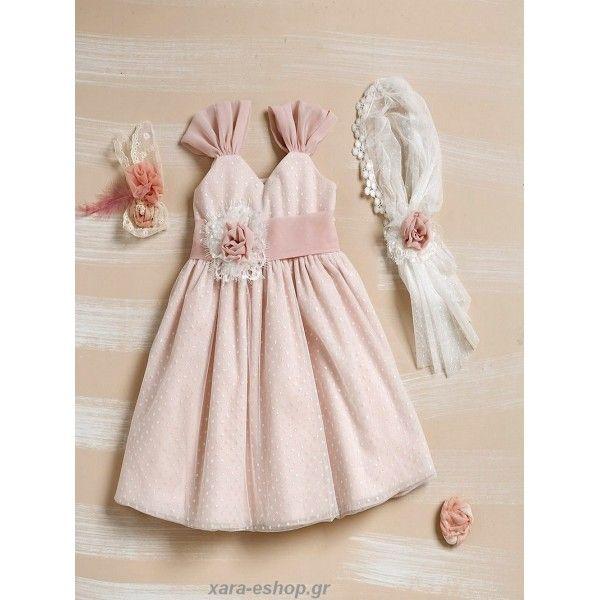 d1fb0d046988 Βαπτιστικό Φόρεμα Lollipop Φ313 Οικονομικό-Επώνυμο   Βαπτιστικά ...