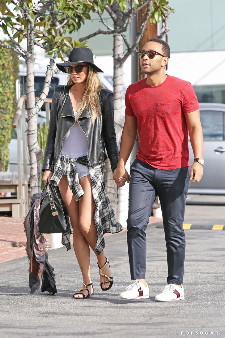 Pin for Later: Can't-Miss Celebrity Pics!  John Legend and Chrissy Teigen went on a sweet stroll in LA on Sunday.
