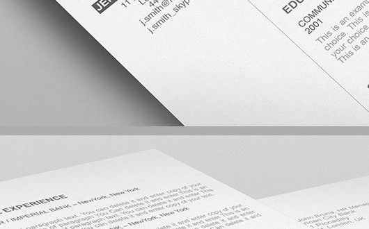 Elegant Resume Template - 110540 - Premium line of Resume Cover - Resume For Apple