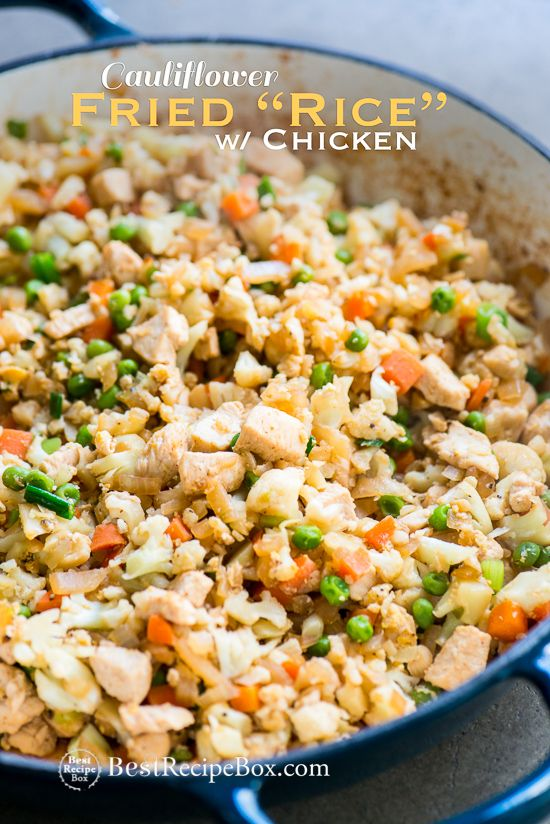 Chicken Cauliflower Fried Rice Recipe LOW CARB | Best Recipe Box