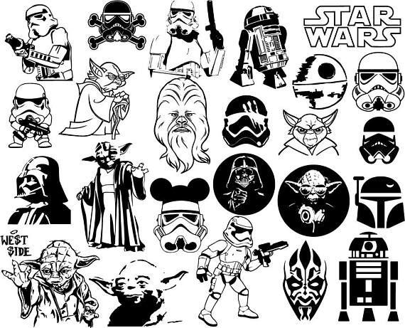 Star Wars Clipart Bundle Disney Star Wars Clip Art Starwars