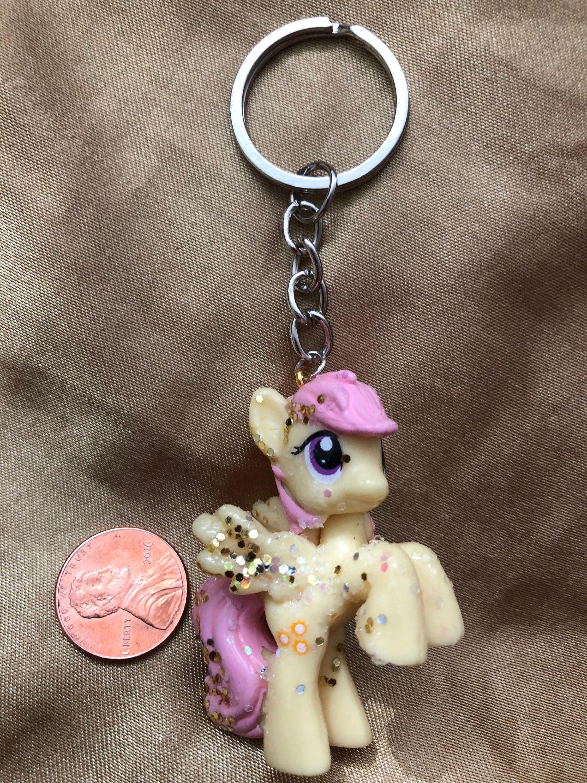 My Little Pony Keychain Custom Keyrings Bookbag Snaps /& Holiday Cake Toppers Fluttershy Yellow Acrylic Pegasus Pony Ornament