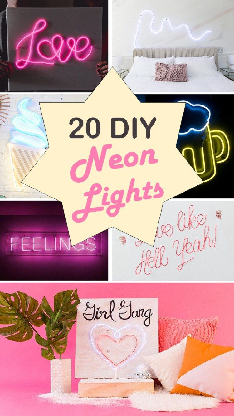 Light Up Your Life with These 20 DIY Neon Lights Diy
