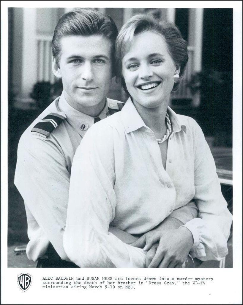 Alec Baldwin & Susan Hess in Dress Gray (March 9-10, 1986, NBC Miniseries)    Alec baldwin, Childhood memories, Baldwin