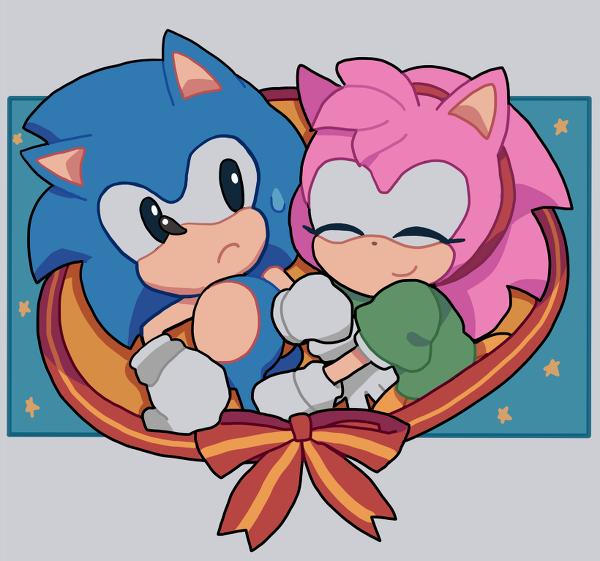 Classic Sonamy | Sonic and amy, Sonic, Classic sonic