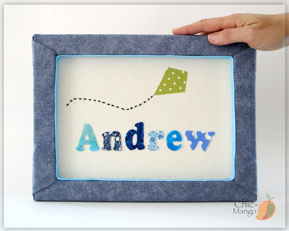Personalized kids wall art baby gift for boy nursery name sing