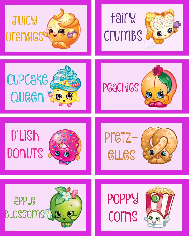 Shopkins Food Labels 2