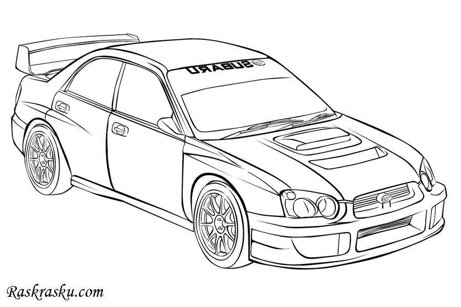 Raspechatat Raskrasku Subaru Raskraski Dlya Detej Detskie