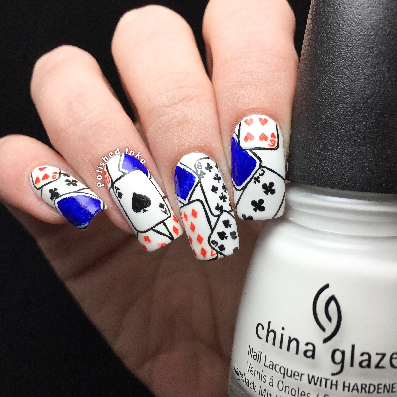 Playing Cards Nail Art Polished Inka Nails Pinterest