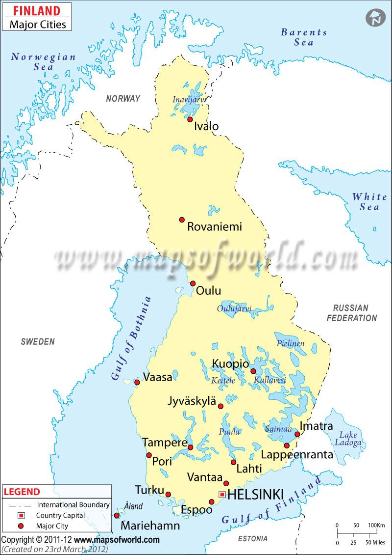 Finland Cities Map Finland Cities In Finland Road Trip Europe