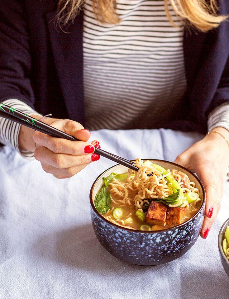 Heavenlynn Healthy – vegane Ramen Miso Nudelsuppe -