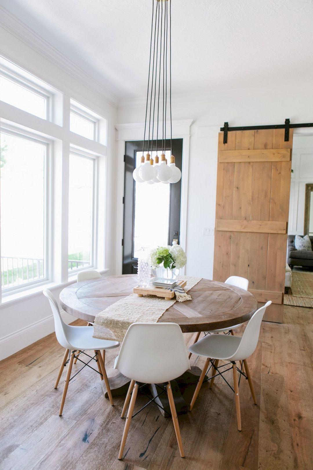 75 Simple And Minimalist Dining Table Decor Ideas Apartment