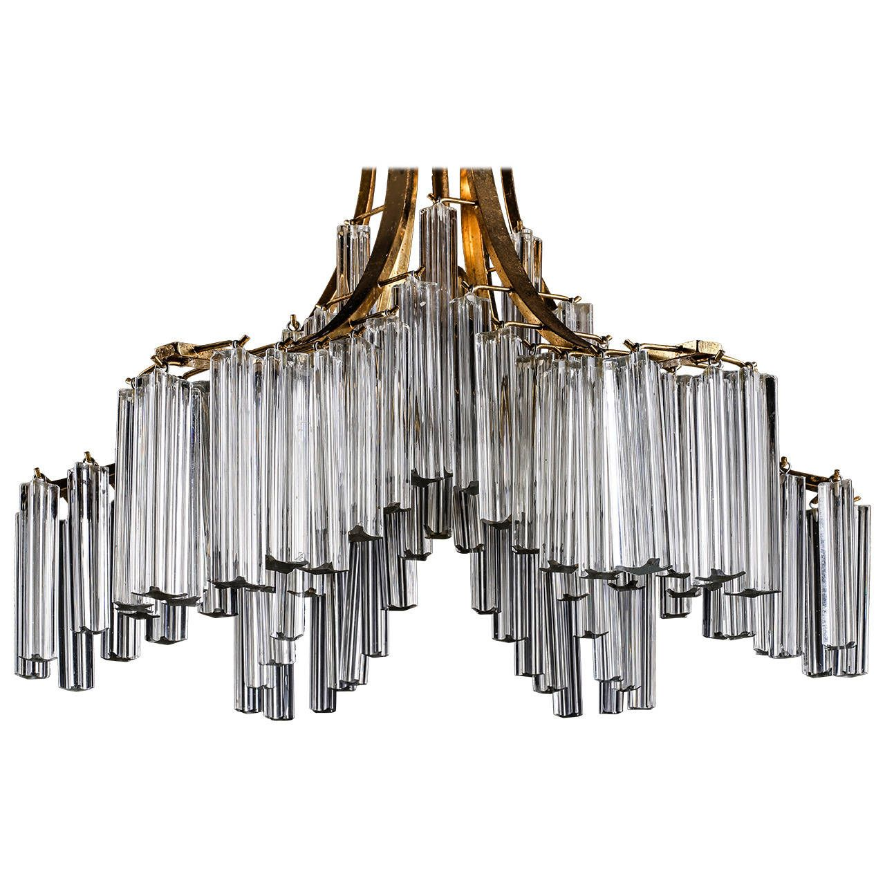 Italian murano clear glass sculptural chandelier by venini italian murano clear glass sculptural chandelier by venini arubaitofo Image collections