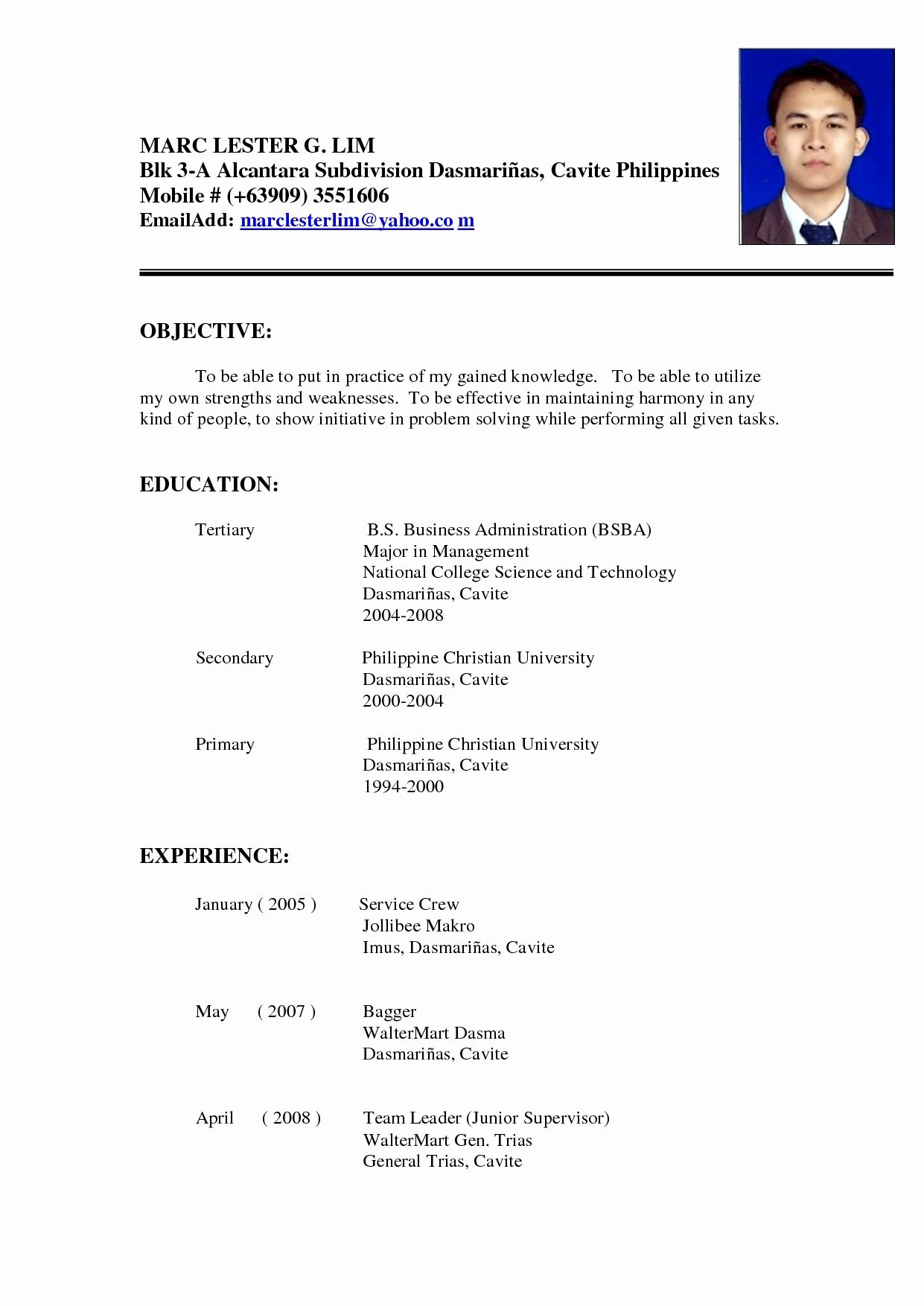 Fillable Resume Form Philippines Google Search Resume Writing Examples Essay Writing Help Resume Format