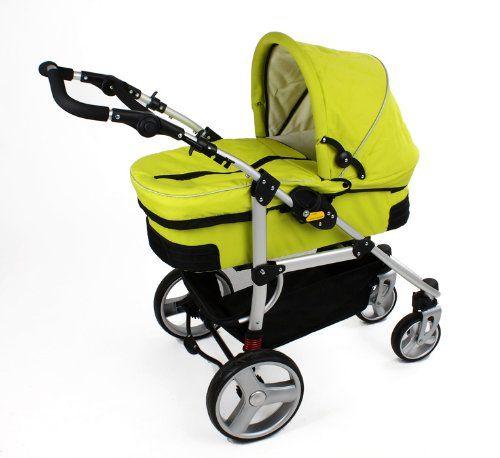 No 5 Bambini Quattro Verde Pram Stroller Pushchair Top