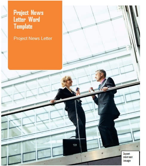 project word newsletter template format project management