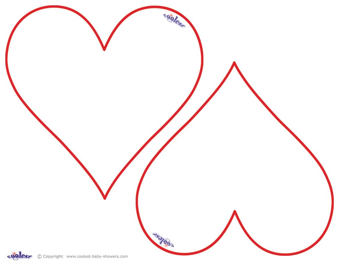 Free Printable Heart Templates  Heart Template Printable