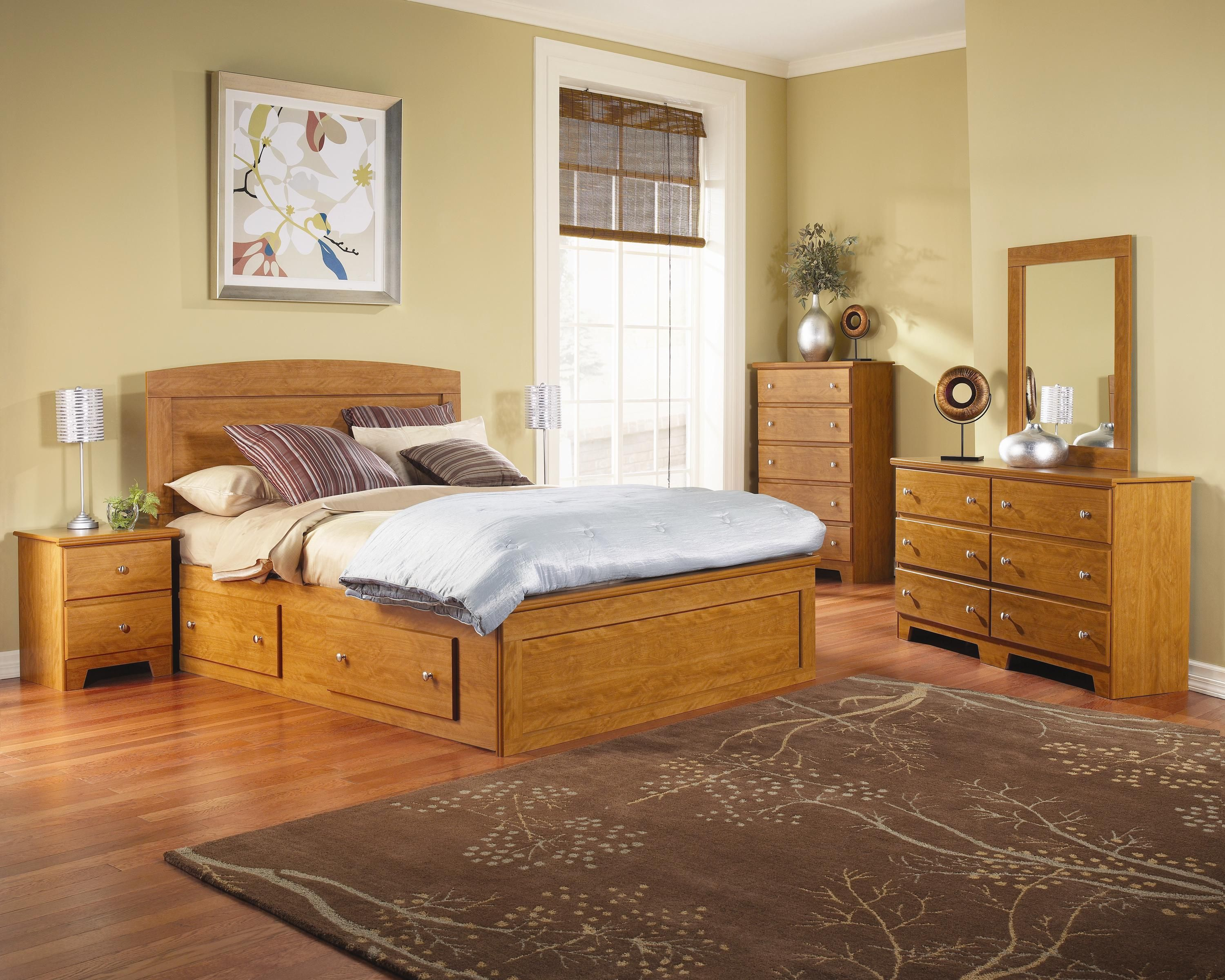 Maple Bedroom Furniture Columbia Panel Captains Bed Assembly Bedroom Set In Maple By Lang