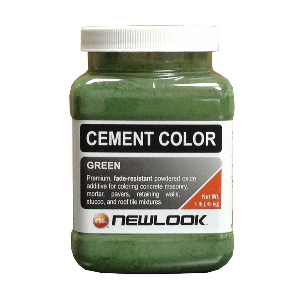 Newlook 1 Lb Green Fade Resistant Cement Color Cc1lb106 The Home Depot In 2020 Cement Color Concrete Color Cement