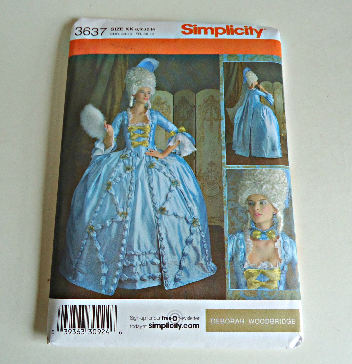 Pattern Simplicity 3637 Misses 18th Century French Revolution Costume Size 8 10 12 14 Adult Uncut  sc 1 st  Pinterest & Pattern Simplicity 3637 Misses 18th Century French Revolution ...