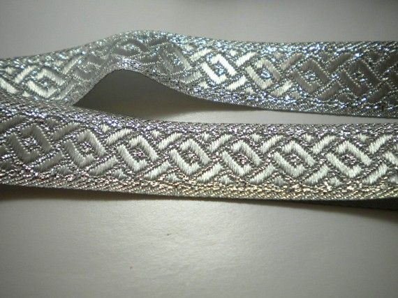 Trim on cloaks...Silver Celtic Ribbon   Trim  15MM by Supplieratcorner on Etsy