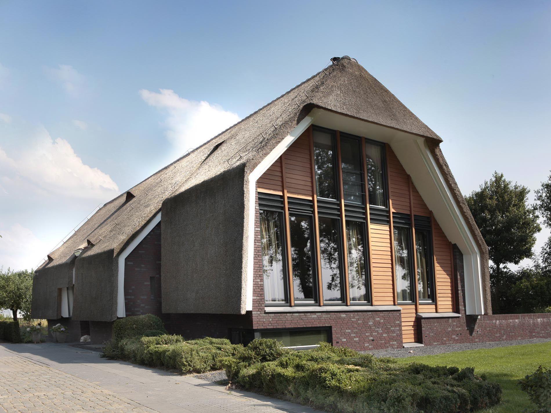 Rieten Dak Woning Modern House Thatched Roof Huis