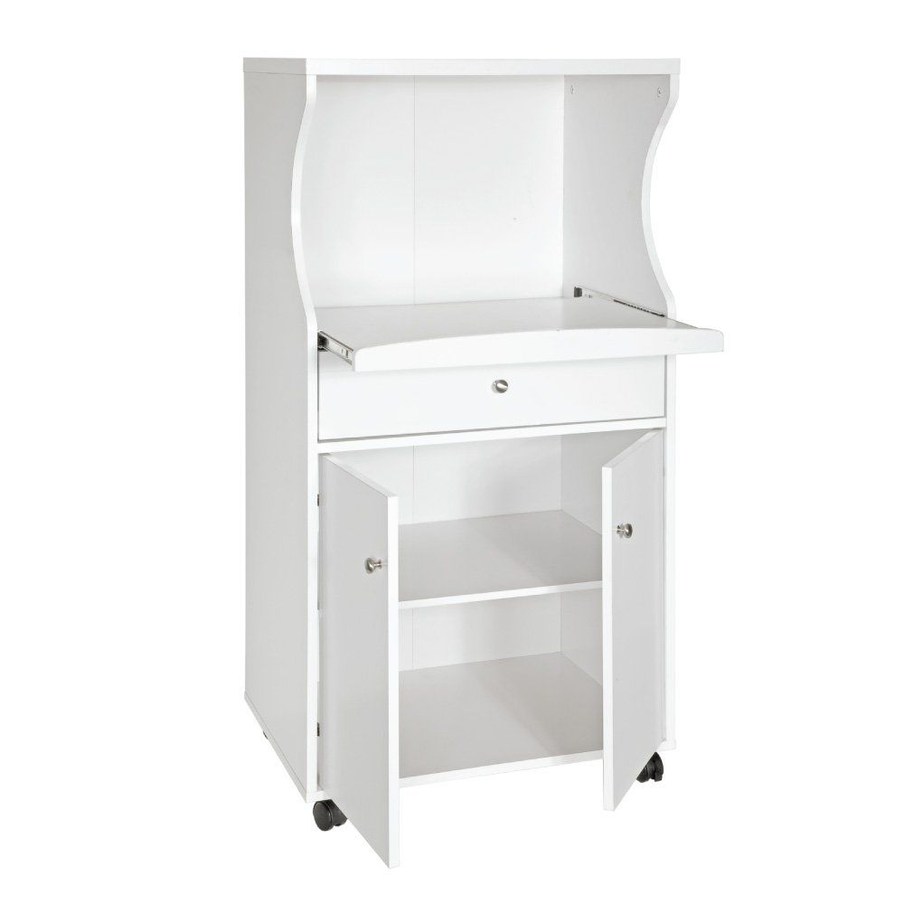 Microwave Stand Home Source Industries Tif 10108 White Kitchen Storage
