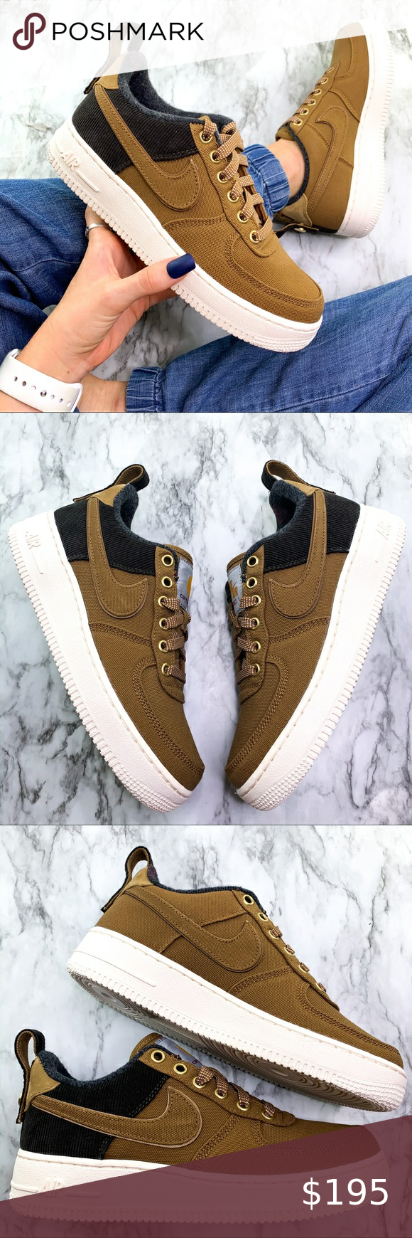 Nike air force, Nike air, Brown sneakers