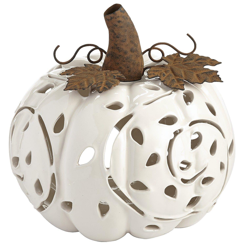 Porcelain Pumpkin Tealight Holder Pier 1 Imports Tea Lights