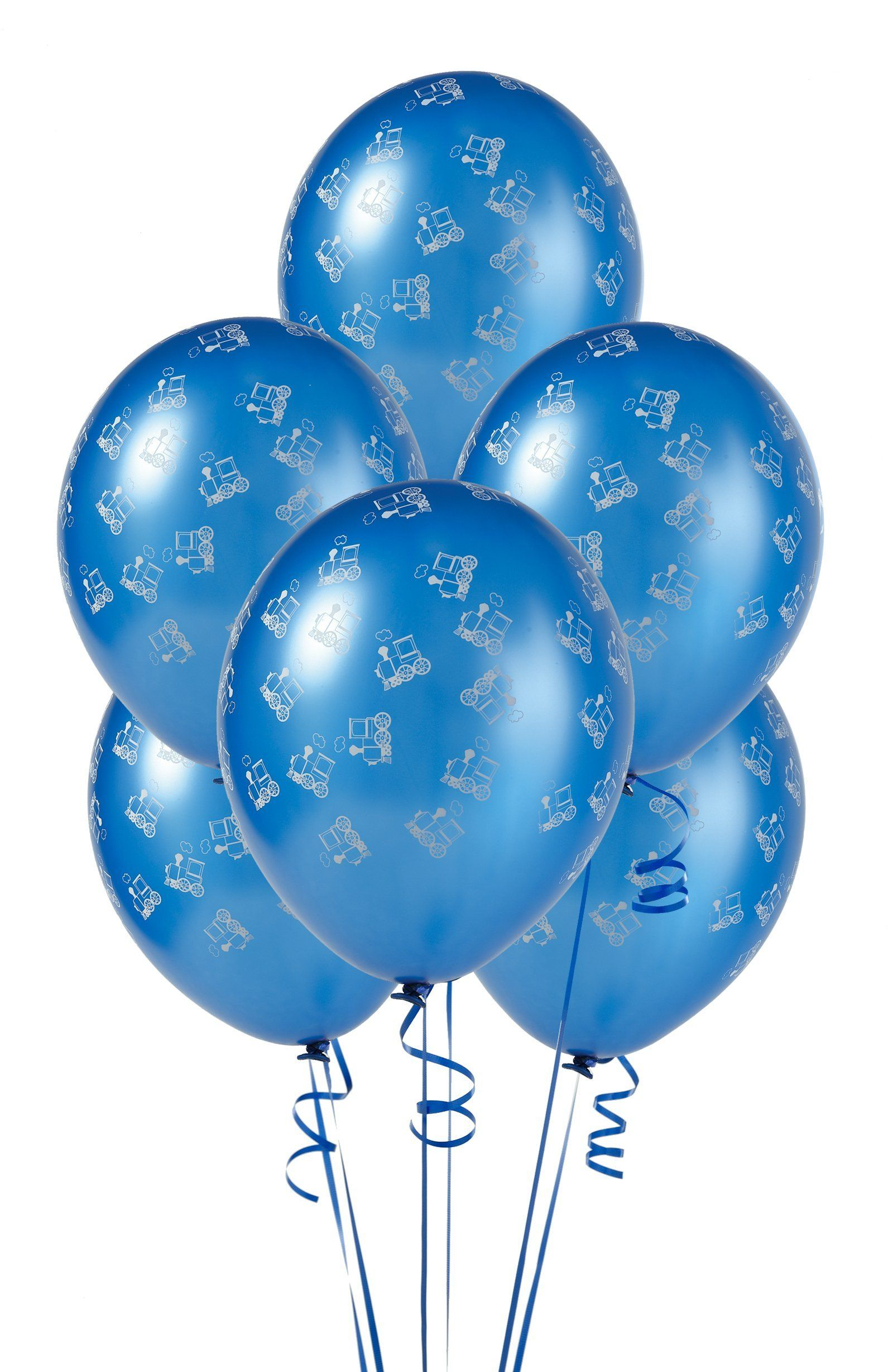 """stars 12/""""  Blue Assortment Latex Balloons pack of 8 number 7"""