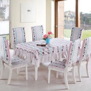 Cotton Fabric Dining Table Cloth Chair Pad Chair