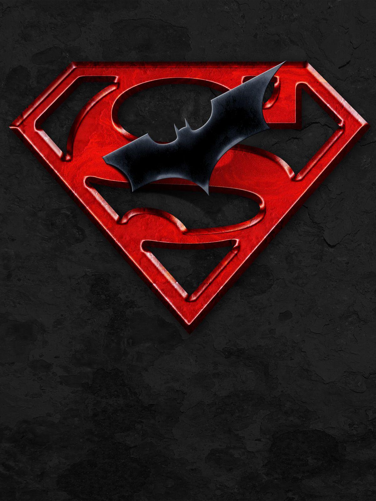 black superman logo wallpaper