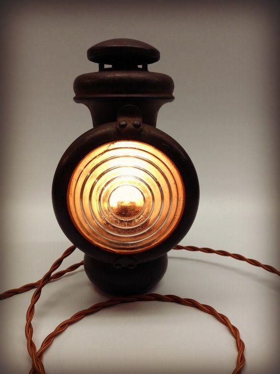 Vintage Antique Ford Model T Headlight Lamp Carriage Kerosene Auto Car Automobile Collector Minimalist Vintage Antiques Antiques Lamp