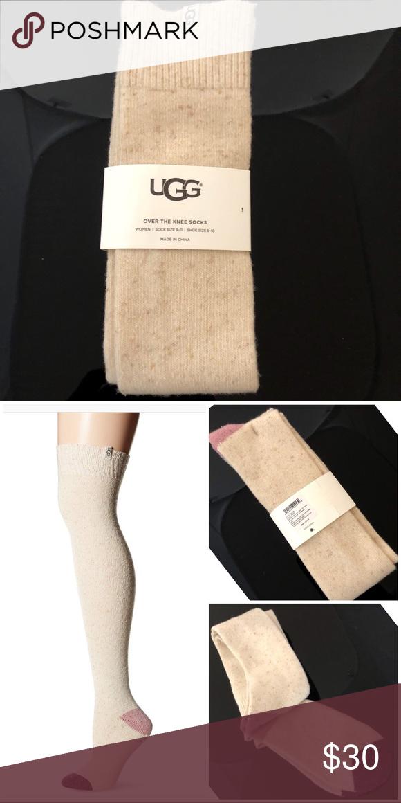 5098ab7f4 UGG Color-Blocked Over The Knee Socks Your sock drawer deserves a winter  makeover.