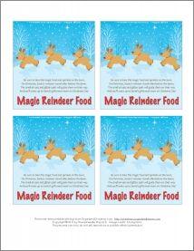 Magic Reindeer Food: Printable Stocking Stuffer | Organized Christmas #reindeerfoodrecipe